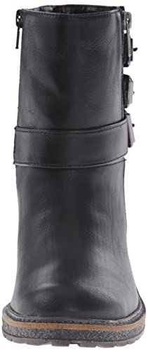 White Mountain Jojo Rund Kunstleder Mode-Stiefeletten Black