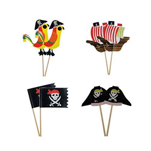 Amosfun 80 stücke Piraten Kuchen Topper Cupcake Picks Kuchendeko für Kinder Geburtstag Party Deko 24 Stücke