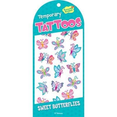 Preisvergleich Produktbild Peaceable Kingdom 4204928 - Peaceable Kingdom - Sweet Butterflies Tattoos