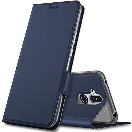 Geemai Cover per Nokia 8.1,Flip Case Custodia a Portafoglio in PU Premium Protezione di Lunga Durata,Compatibile per Nokia 8.1 Smartphone.(Blu)