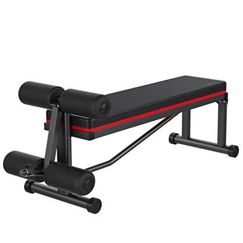 OhLt-j Panca da Palestra Bench Panca con manubri a casa Sedia da Fitness Sit-up Board Addominale Panca Multifunzione Panca Pesi, Cuscinetto 200 kg (Colore: Nero, Dimensioni: 120 * 41 * 55 cm)