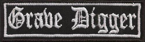 GRAVE DIGGER, Heavy Death Metal Biker Rocker Punk Aufnäher Patch Badge (Grave Digger Fall)