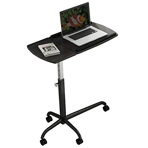 Zfggd Mobile Computer Schreibtisch Laptop Tabelle Cart Save Nachttisch höhenverstellbar Arbeitsplatz Notebook Tisch Hubtisch, schwarz (Ergonomische Computer-cart)