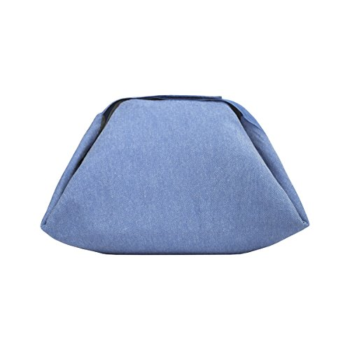 Roll'eat Eat'n'Out Mini Eco Blau - 2 in 1 Lunch bag, tasche für Brotdose, Lunch Tasche Wasserdicht Leichte Picknicktasche Mittagessen Isoliertasche Thermotasche für Arbeit (Tischdecke Roll Blaue)
