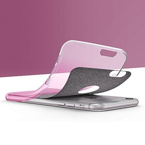 Original Urcover® Apple iPhone 6 Plus / 6s Plus Hülle Soft Rainbow Glitzer Series Handyhülle [BLAU] TPU Cover Case Etui Schutzhülle für TOP Handyschutz Pink