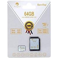 64GB Micro SDXC SD U3tarjeta adaptador de Plus Pack. Amplim Pro Extreme microSDXC Clase 10UHS-I 95MB/s de lectura, 90MB/s de escritura. Ultra alta velocidad HD UHD 4K video. Interior/Flash de almacenamiento externo tarjeta microSD TF de memoria