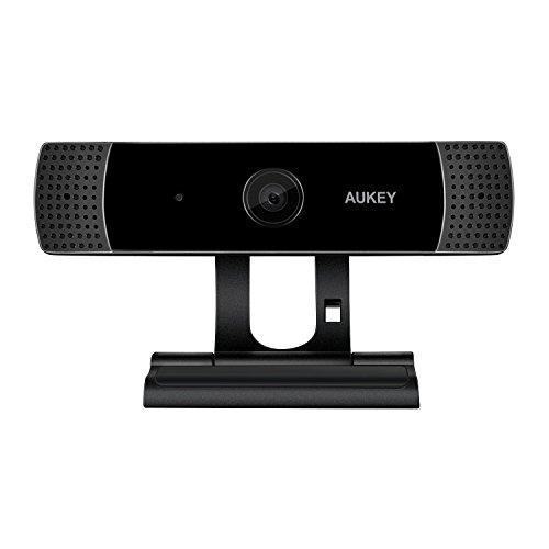 AUKEY Webcam 1080P Full HD con Micrófono Estéreo, Cámara Web para Video Chat y Grabación, Compatible con Windows, Mac y Android (negro)