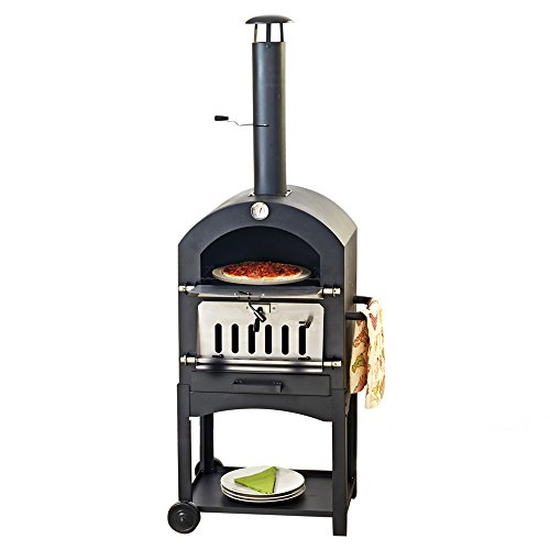 Outdoor Wood-Fired Charcoal Fired Pizza Oven Bread Oven Smoker BBQ.