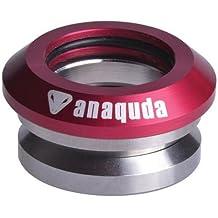 "receptor de cabeza integrado completo Anaquda 1 1/8"" Scooter Stunt Auricular Rojo"