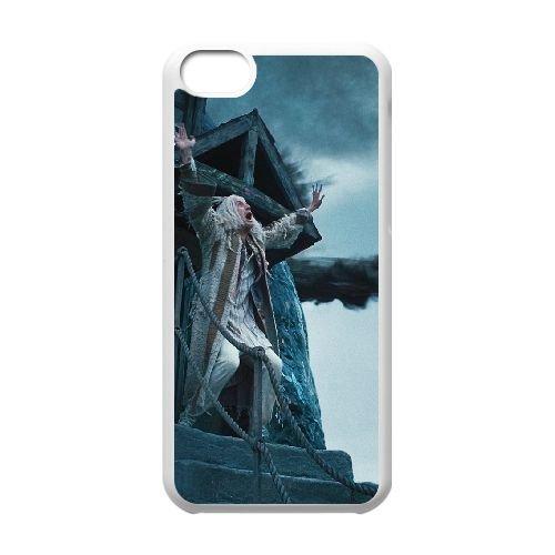 Deathly Hallows coque iPhone 5C Housse Blanc téléphone portable couverture de cas coque EBDXJKNBO10932