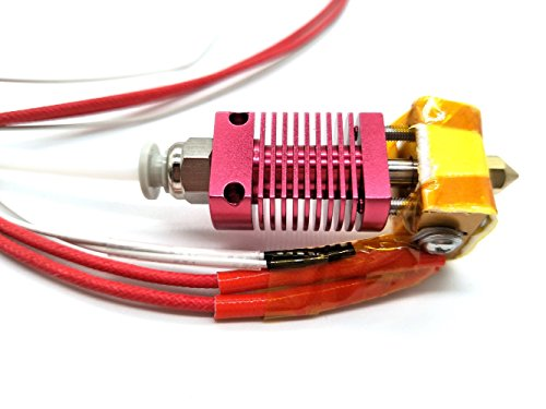 Gwisdom CR10S Hotend, MK10 extruder CR-10 Extremo caliente ensamblado MK10 Kit de extrusora para CR-10 CR-10S CR-10S4 CR-10S5 Impresora 3D con bloque de calentamiento de aluminio, 12V 40W