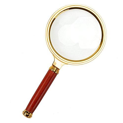 Tumao Lupe mit 8 fach für Schmuck Senioren, Handlupe (Leselupe) 80mm Ø mit 8 Facher Vergrößerungsglas für Lesen, Inspektion, Briefmarken, Antiquitäten, Objektiv Schmuck Lupe (Lupe mit 8 fach)