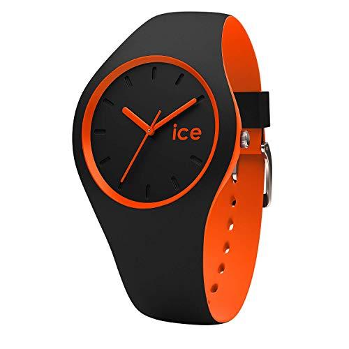 Ice-Watch - Ice Duo Black Orange - Schwarze Jungenuhr mit Silikonarmband - 001528 (Small)