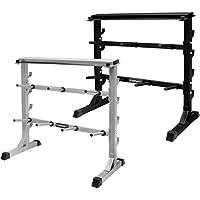 Mirafit - Ständer für Hantelscheiben & Hantelstangen - belastbar bis 300 kg - Schwarz oder Silberfarbig