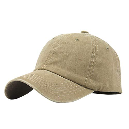 ae872fdbf2f383 Junjie Baseball-Visier Pferdeschwanz Unordentlich Brötchen Trucker Plain  Baseball Visier Cap Unisex Hut Grau,