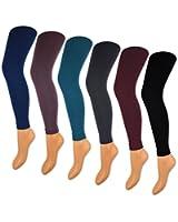 Damen THERMO Leggings mit Innenfleece extra warm & weich Innenfutter Fleece - A27 - sockenkuf24