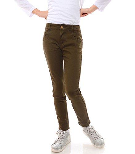 GP Creation Mädchen Jeans Stretch Kinder Hose Röhrenjeans Jeans Hose Skinny 21743 Grün 140