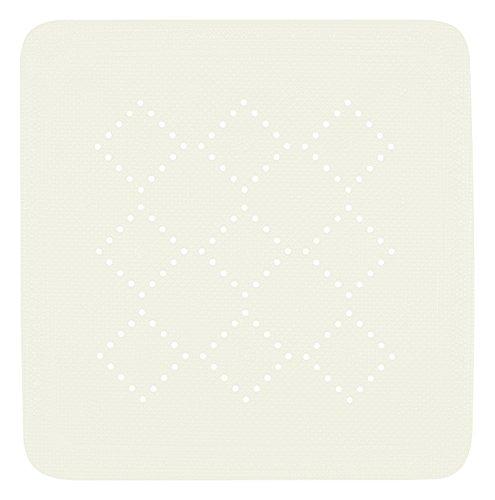 Spirella Duschmatte Badematte Duscheinlage antibakteriell Rutschfest mit Saugnäpfen - Alaska Weiß - ca. 55 x 55 cm