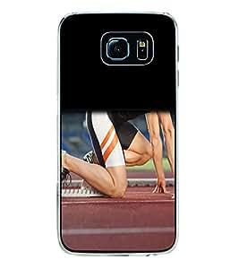 Fuson Designer Back Case Cover for Samsung Galaxy S6 G920I :: Samsung Galaxy S6 G9200 G9208 G9208/Ss G9209 G920A G920F G920Fd G920S G920T (running run running Track sports excercise athlete)