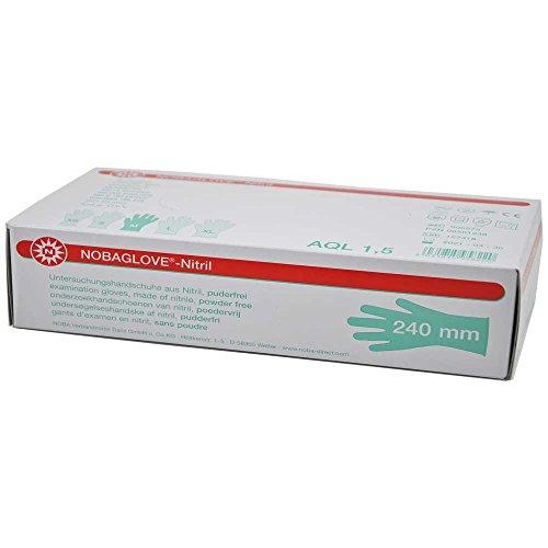 100x NOBAGLOVE®-Nitril weiß Einmal-Handschuhe Nitrilhandschuh Handschuhe, puderfrei, XS