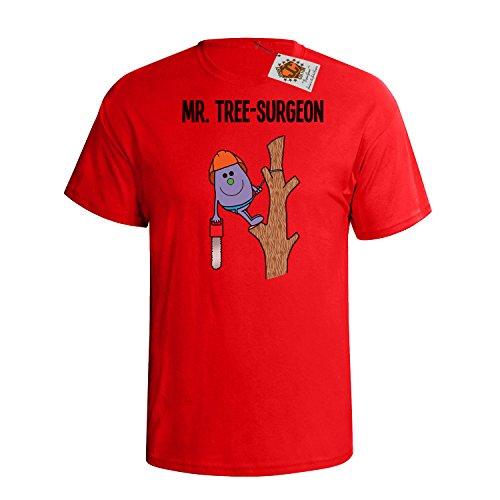 `Mr Tree Surgeon` mens herren Hobbies / Berufe perfect gift t shirt Rote