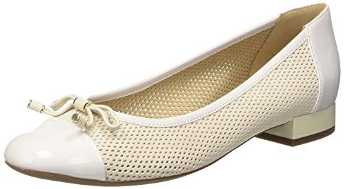 Geox D Wistrey G, Ballerines Femme Blanc Cassé (Off Whitec1002)