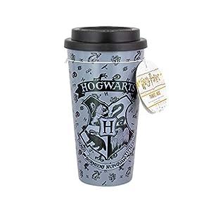 Harry Potter Hogwarts Reisebecher, Kunststoff, Mehrfarbig, 9,5 x 9,5 x 18 cm, Plastik, 9.5 x 9.5 x 18 cm