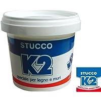 Stucco in Pasta K2 5 KG colore Bianco Speciale per legno e muri - Uso interno