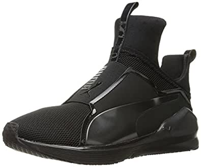 Puma Womens Fierce Core Cross-Trainer Shoe Black Black 7 M US