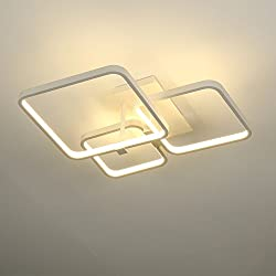 ELINKUME Lámpara LED de Techo 52W Plafón para Dormitorio Lámparas de Salón Techo para Sala