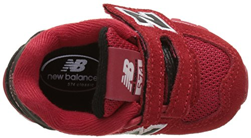 New Balance Kv574cxi M Hook and Loop, Scarpe da Ginnastica Basse Unisex – Bambini Rosso (Red)