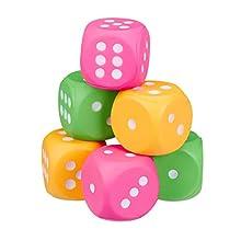Relaxdays 10024997 Lot de 6 cubes en mousse XXL pour enfant avec 6 cubes souples en polyuréthane Multicolore - version allemande