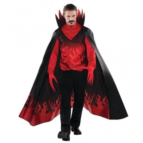 Party Himmel Und Kostüm Hölle - Generique - Teufel der Nacht Kostüm für Herren Halloween schwarz-rot XL