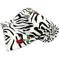 SWIYAM Microfiber Zebra Print with Red Rose Double Bed Reversible AC Blanket, Dohar, Comforter for Kids