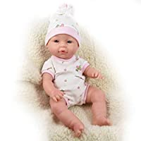 "The Magic Toy Shop 14"" Anatomically Correct Soft Vinyl Lifelike New Born Realistic Baby Girl Boy Doll (Girl Doll)"