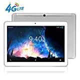 Tablet 10 Pollici 4G LTE BEISTA-Android 9.0 tablets,Otto core,Frequenza della CPU 2.0 GHZ,4G RAM,64GB ROM,WiFi,Full HD,corpo in metallo ultrasottile,GPS-Argento
