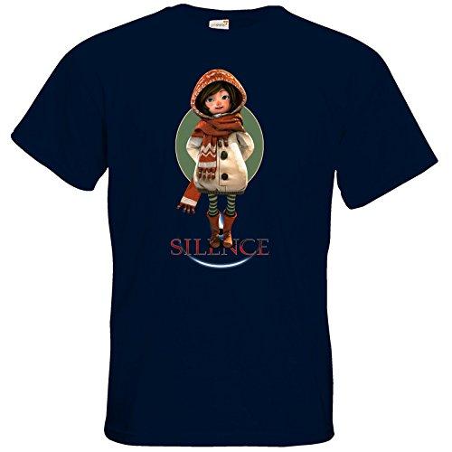 getshirts - Daedalic Official Merchandise - T-Shirt - Silence - Renie Navy