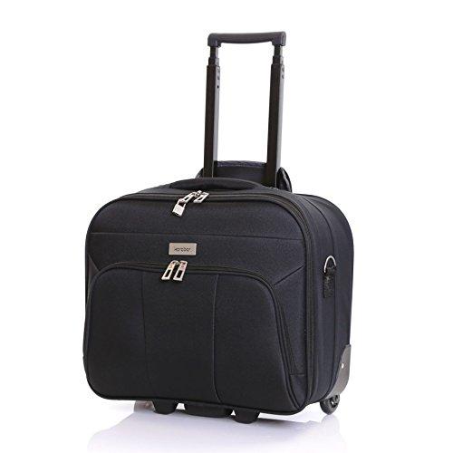 Laptop-trolley (Karabar Minto Roll Laptop-Tasche - 10 Jahre Garantie, Schwarz)