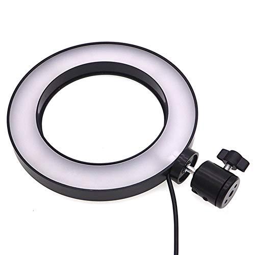 Yeshai3369 Dimmbare LED Studiokamera Ringlicht Warmlicht Weiß Beleuchtung verstellbar (Camcorder Ring-licht Für)