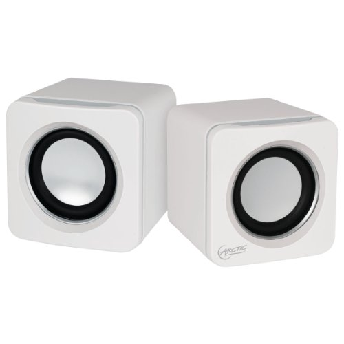 Arctic S111 - Altavoces para PC (USB, 2.0, 3.5 mm) color blanco