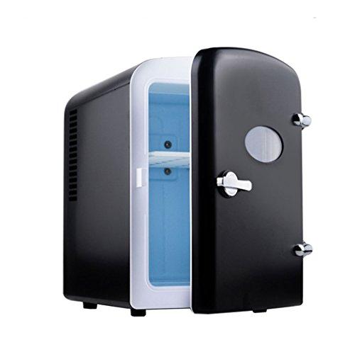 T-Day Car Kühlschränke 5L Auto Kühlschrank, tragbare Mini-Kühlschrank, AC und DC Hotspot-System, Thermostat, Medikamentenlager, Kosmetik-Kühlschrank (Color : Black)
