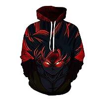 cartoon anime Dragon ball Kakarotto Son Goku 3D Digital printing round neck long sleeve fashion tops-L