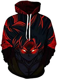 cartoon anime Dragon ball Kakarotto Son Goku 3D Digital printing round neck long sleeve fashion tops-M