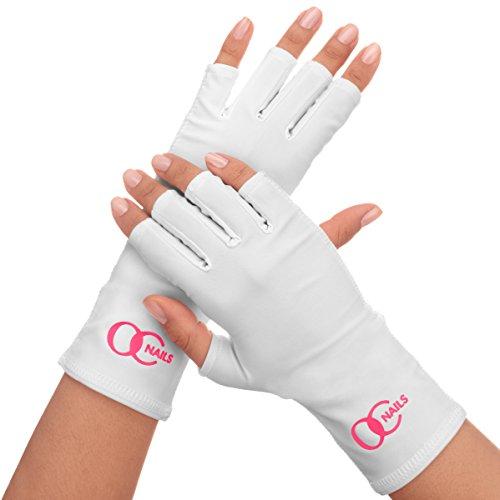 Ongles OC Bouclier UV Gant Pour Manucure Gel Avec Lampes UV/LED, Couleur: Blanc