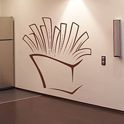 Frites Imprimer Wall Sticker alimentaire Sticker Art disponible en 5 dimensions et 25 couleurs