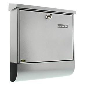 BURG-WÄCHTER, Briefkasten-Set mit Zeitungsbox A4 Einwurf-Format, Verzinkter Stahl, Set Vario Si, Silber