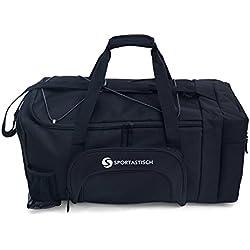 """VERGLEICHSSIEGER: Premium Sporttasche """"Sporty Bag"""" von Sportastisch :: Farbe: SCHWARZ :: mit Schuhfach, Tragegurt und Trinkflaschen-Halter :: hochwertiges Nylon garantiert beste Atmungsfähigkeit :: Exklusives Design für Damen, Herren und Kinder:: extra groß mit 35L Fassungsvermögen :: lange Lebensdauer dank hochwertiger Verarbeitung :: Ideal als Sporttasche, Fitnesstasche und Reisetasche :: 3 Jahre Premium Sportastisch Garantie"""