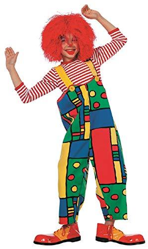 narrenkiste W3239-164 bunt Kinder Mädchen Junge Clown Latzhose Trägerhose Gr.164 (Kleines Mädchen Zirkus Clown Kostüm)