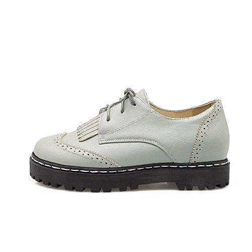 Bleu Légeres Couleur Rond Chaussures Voguezone009 Lacet Matière Bas 0waPxqE