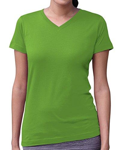 Apple Top Shirt (Ladies' V-Neck Fine Jersey T-Shirt APPLE M)